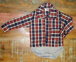 Camisa social prática para bebês
