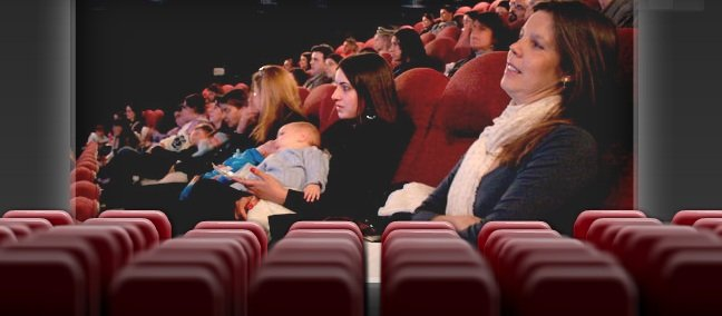 Cinema para mães e bebês