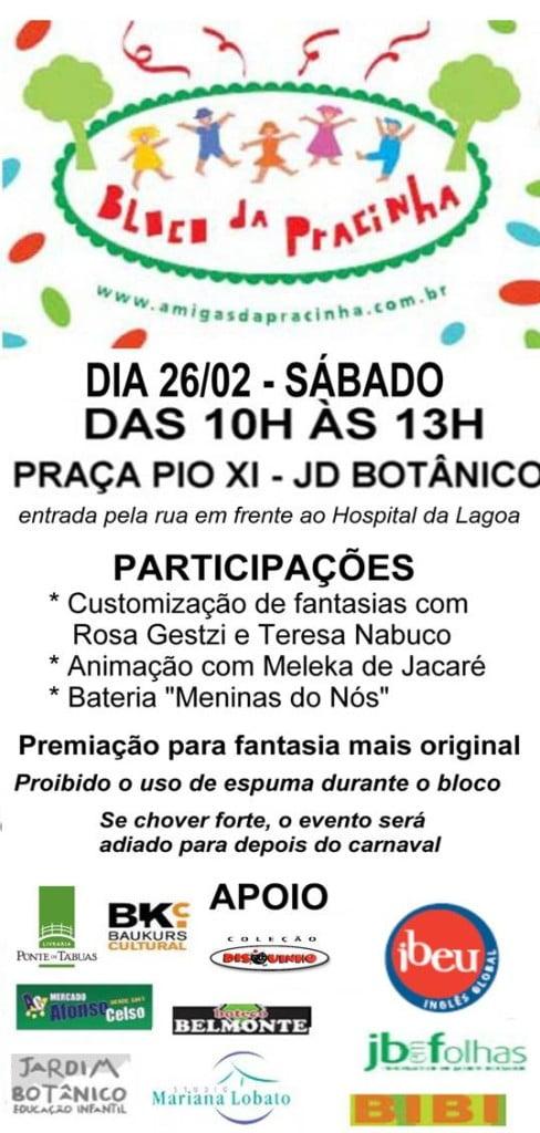 Amanhã é dia de bloco infantil no Jardim Botânico