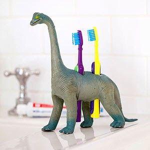 porta escova de dentes dinossauros