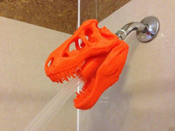 chuveiro dinossauro