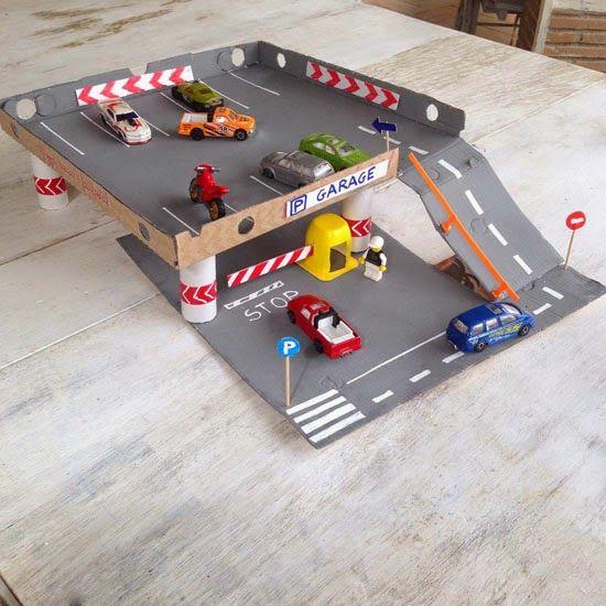 garagem de carrinhos