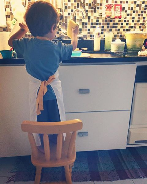 lavar a louça