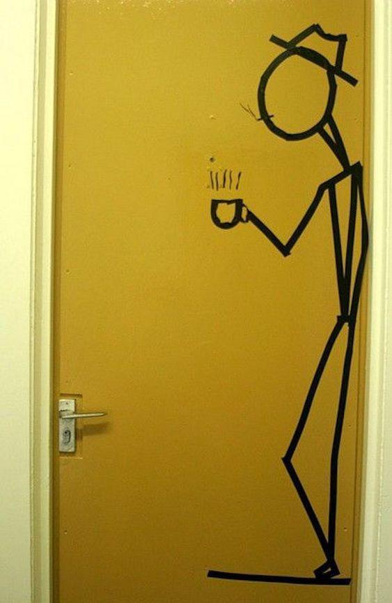 adesivo na porta