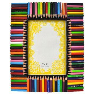 porta-retrato lápis de cor