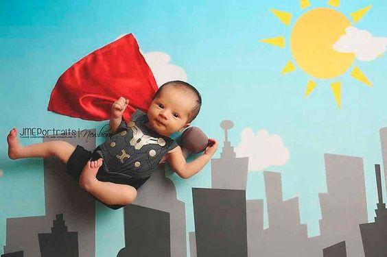 bebês heróis
