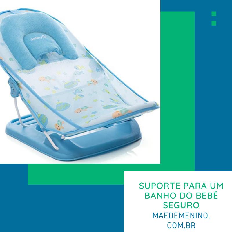 suporte para um banho do bebê seguro