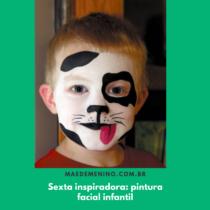 Sexta inspiradora pintura facial infantil