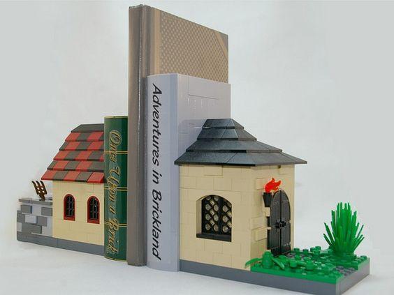 porta livros com lego